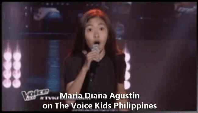 Maria Diana Agustin on The Voice Kids Philippines
