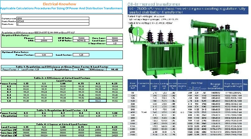 Power and distribution transformers sizing calculations part calculations procedures for sizing of power and distribution transformers greentooth Gallery
