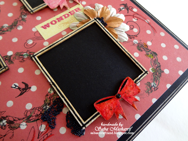 wycinanka chipboard, Prima flowers, Ranger Micro beads