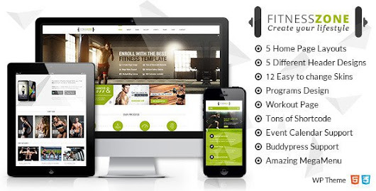 Fitness Zone v2.0 – Sports, Health, Gym & Fitness WordPress Theme ~ Tjs Hotspot