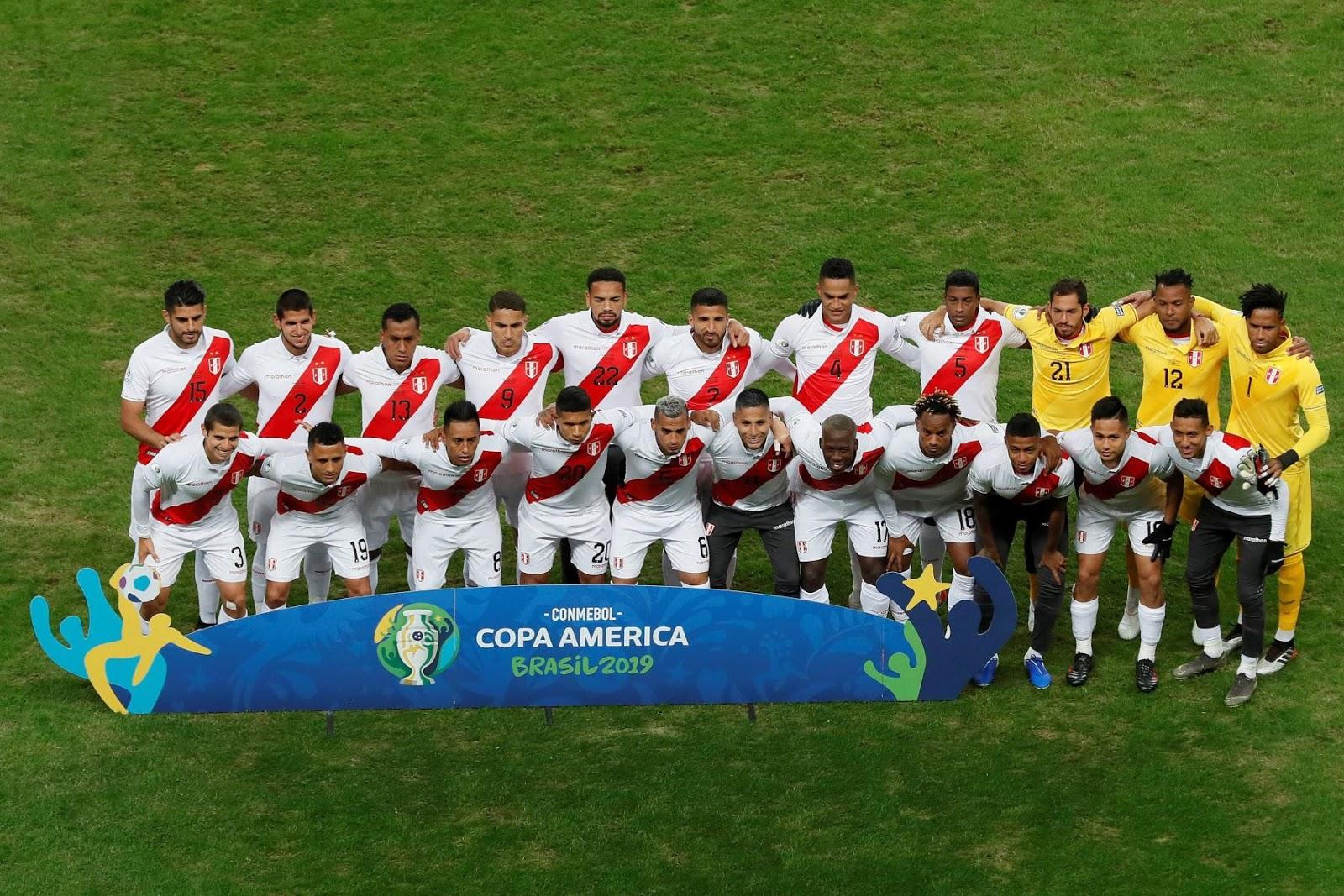 Titulares y suplentes de Perú ante Chile, Copa América 2019, 3 de julio