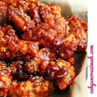 Resepi Korean Spicy Chicken, korean spicy chicken, cara membuat korean spicy chicken,