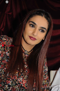 Kannada Actress Ragini Dwivedi Stills in Floral Short Dress at Ranachandi Movie Press Meet  0001.jpg