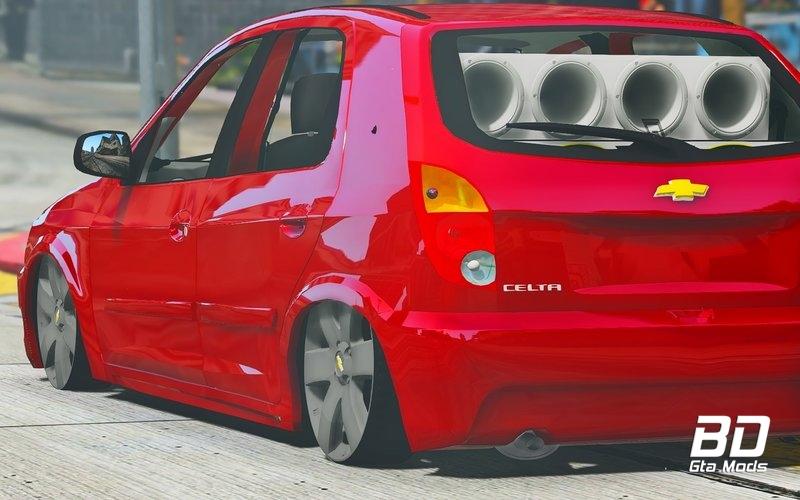 Download mod carro Chevrolet Celta Rebaixado - GTA V PC