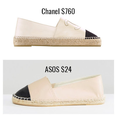 Designer Dupes Look For Less Chanel Espadrilles ASOS