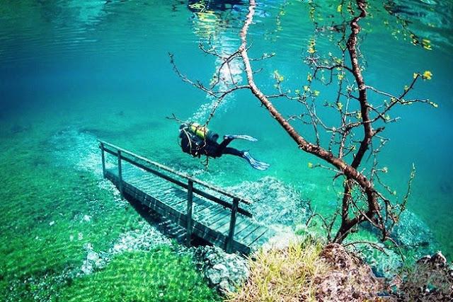Grüner See, Taman Indah di Bawah Air