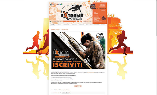 Sito web Extreme Warrior Run, EXWRUN