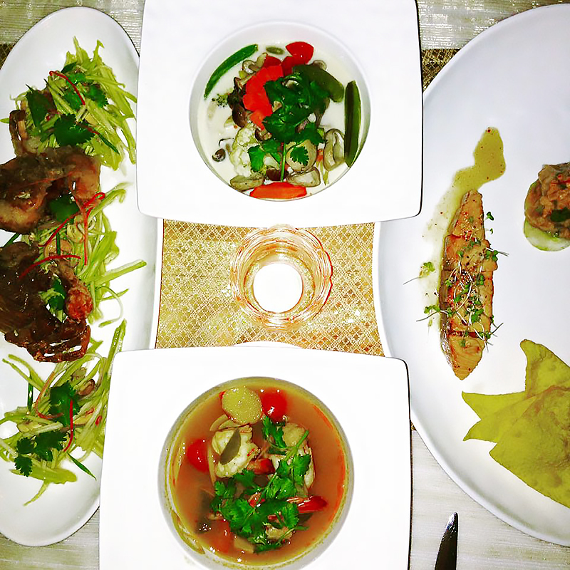 Dinner at Azu restaurant, Radisson Blu Plaza Phuket hotel