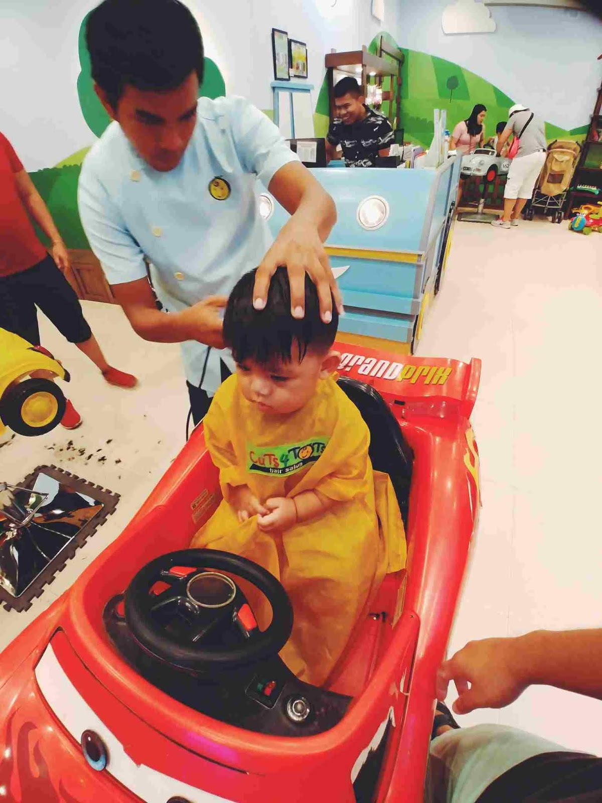 Miguel's third haircut at Cuts 4 Tots