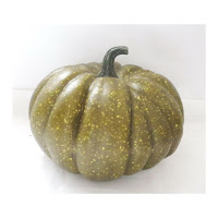green foam craft pumpkin