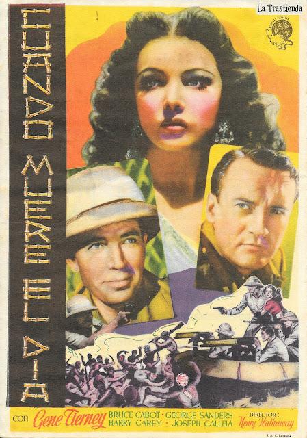 Cuando Muere el Día - Programa de Cine - Gene Tierney - George Sanders