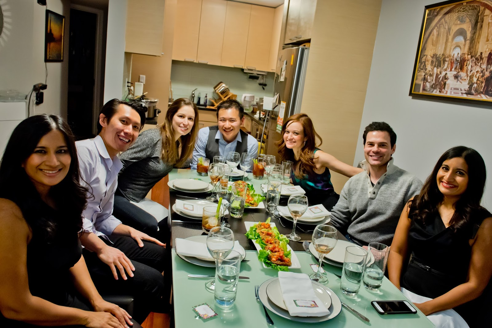 Dinner party at home