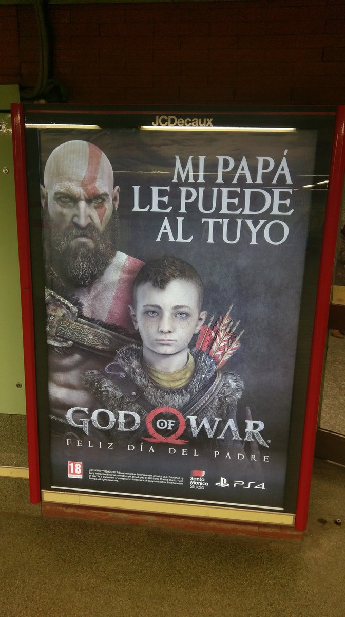 La original forma de PlayStation para felicitar el día del Padre con God of War