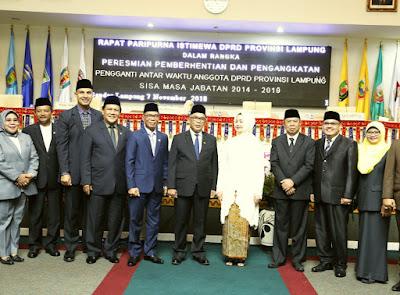 Wagub Bachtiar Basri Hadiri Pelantikan Anggota DPRD PAW Indra S. Ismail