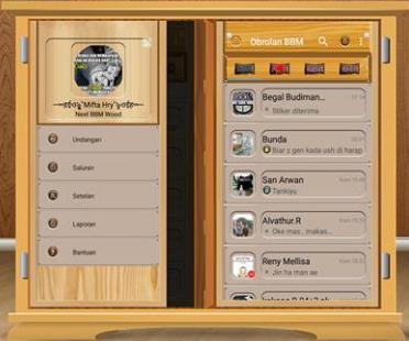 BBM Mod Wood v2.13.1.14 Apk Tema Kayu
