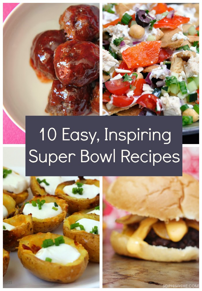 This collection of easy and inspiring big game recipes are perfect for serving at your next Super Bowl party!