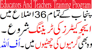 Training Program for Educators And Teachers