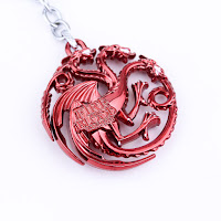 Targaryen keychain red back
