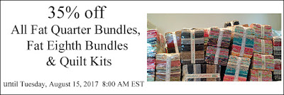 35% off all fat quarter bundles, fat eighth bundles & quilt kits