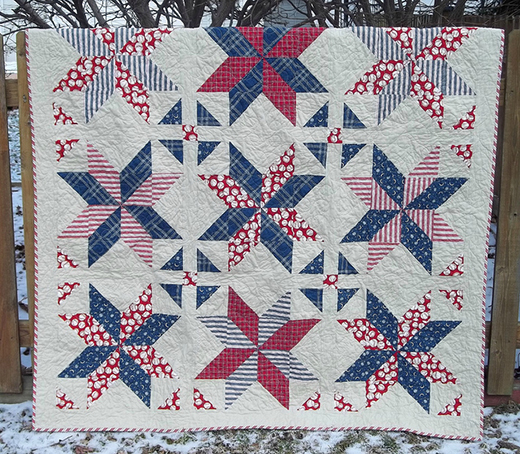 Big Star Quilt designed by Kelsey, The Free Pattern By Jackie O'Brien.
