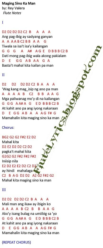 Maging Sino Ka Man Rey Valera Bb Music Letter Notation With