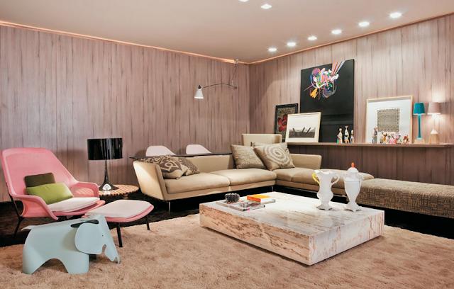 Decoraci n de salas para espacios amplios y grandes - Decorar mesas de salon modernas ...