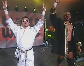WCW World War 3 1998 - Sonny Onoo & Ernest Miller faced Perry Saturn & Kaz Hayashi
