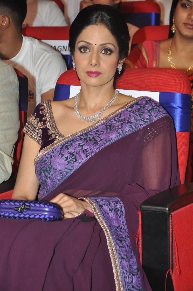 Sri Devi Latest Cute Stills In Colorful Maroon Saree