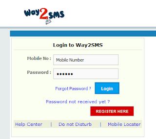 login to way2sms
