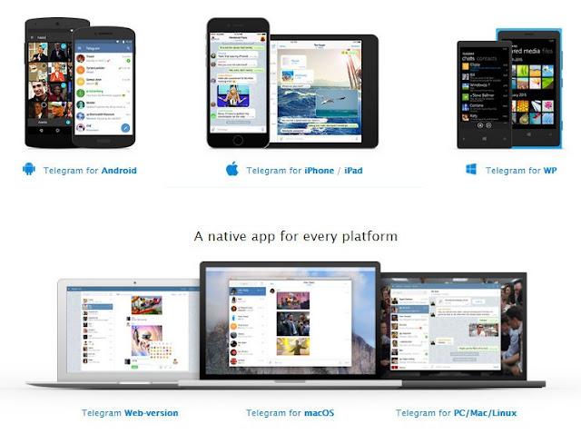 Telegram mesengger support All device