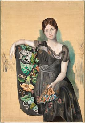 Picasso -Olga Khokhlva à la mantille (1917).
