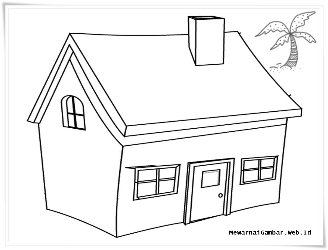 Gambar Rumah Adat Untuk Mewarnai  Gambar Puasa