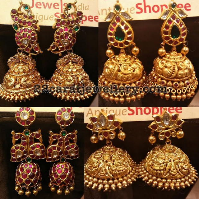 Trendy Jhumkas by Jewels Indian Antique Shoppie