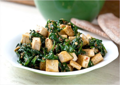 Spinach, Tofu and Sesame Stir-Fry Recipe