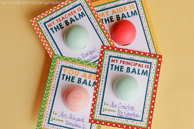 image regarding You're the Balm Free Printable called Cost-free EOS Lip Balm Instructor Appreciation Printables i should really