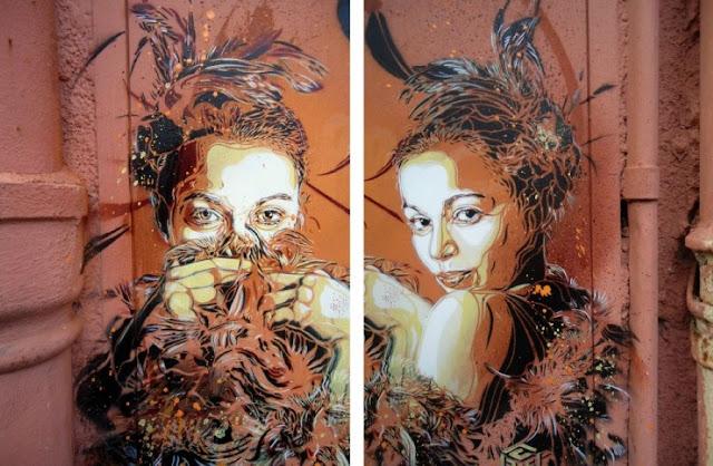 Уличное искусство Кристиана Гуеми (Christian Guémy aka C215) 25