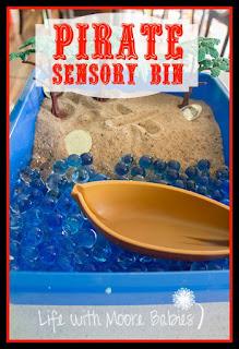 Find the Treasure in this Pirate Sensory Bin