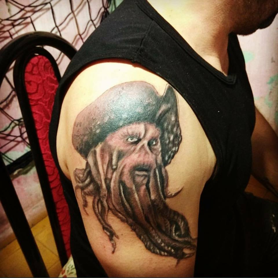 Tattoo De Davy Jones Piratas Del Caribe