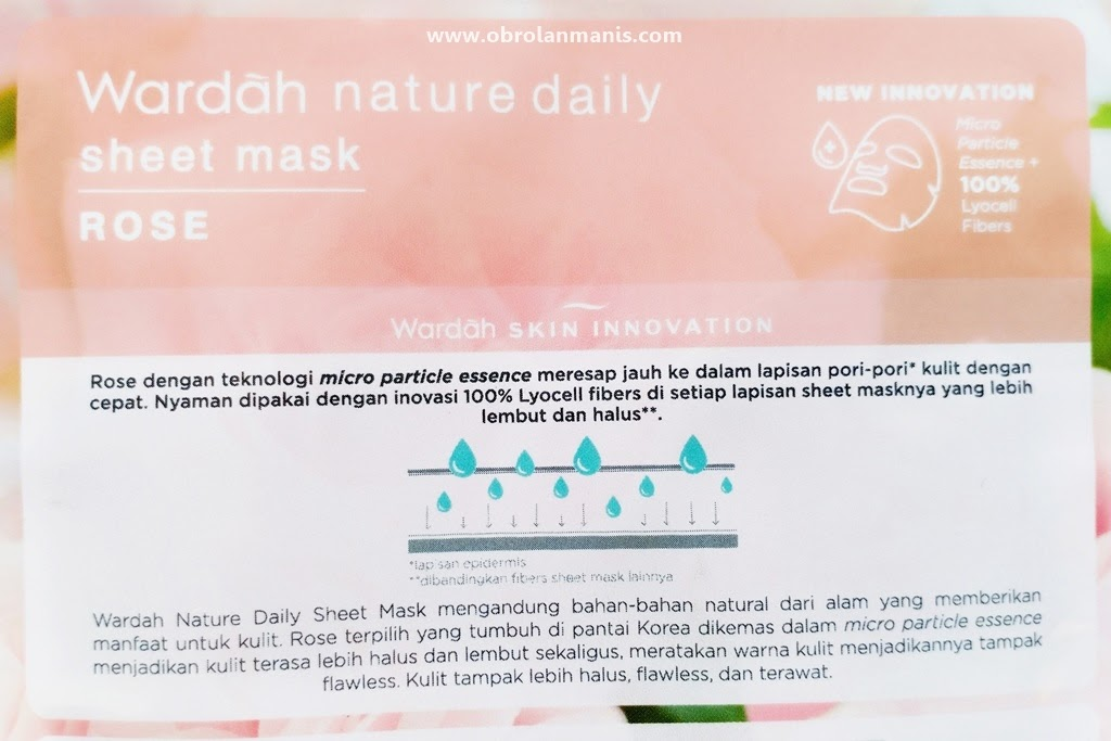 image relating to Daily Sheet identify Research ~ Wardah Mother nature Each day Sheet Mask [Elegance Blogger