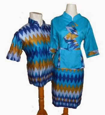 Model baju batik couple dress