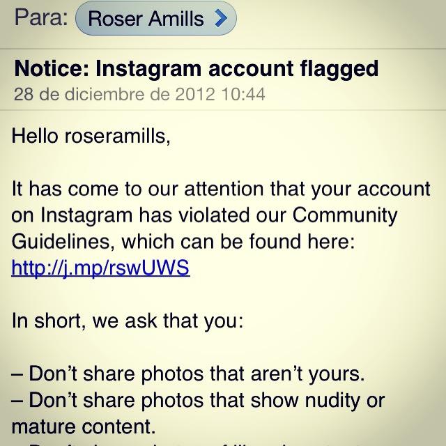 Muchas gracias por su amable mensaje, Srs. de Instagram, seré buena :)) #nuaals8000