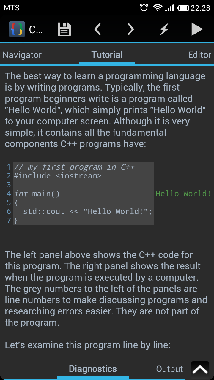 Introduction | CppDroid - C/C++ IDE for Android
