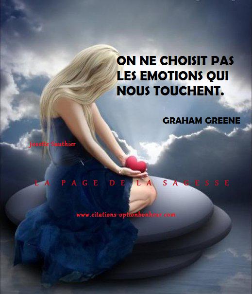 La Page De La Sagesse Citation Sur Les émotions