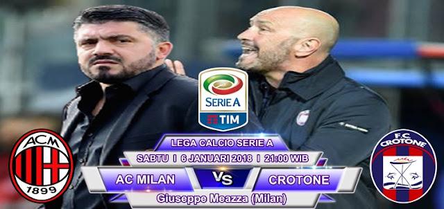 BOLA 365 - Prediksi AC Milan vs Crotone 6 Januari 2018