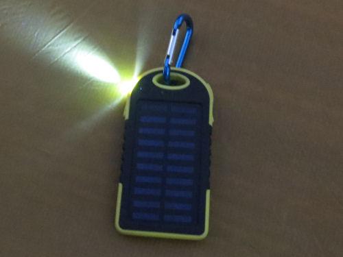 solar charger flashlight