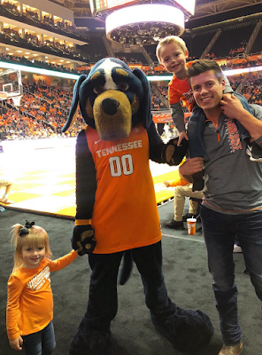 Lawson Bates sings National Anthem University of Tennessee basketball