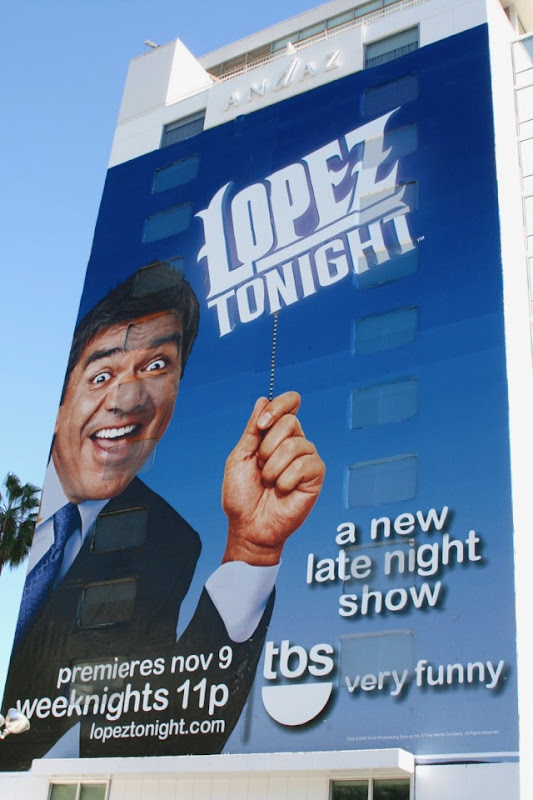 Lopez Tonight series premiere billboard