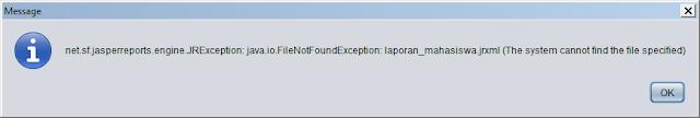 Kelas Informatika - Error Jasper Report Java