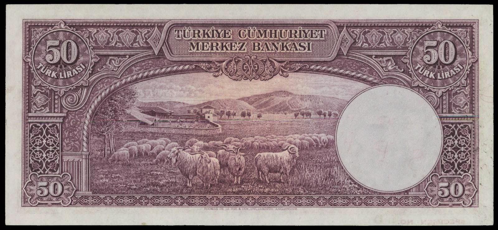 Turkish Lira banknotes 50 Turkish Lirasi banknote 1930