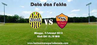 Data dan Fakta Liga Fantasia Serie A Gio 23 Hellas Verona vs AS Roma Fantasi Manager Indonesia